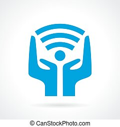 Vector wi-fi connection symbol
