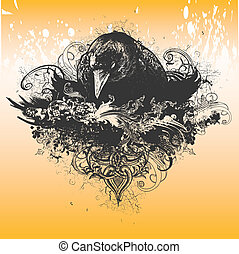 Vector Wicked Crow Apparel Design - Great for t-shirt, ...