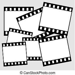 vector wide film frame - vector