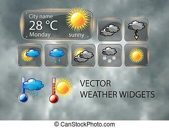 vector, widget, weer