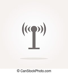 vector Wifi symbol icon (button) isolated on white background