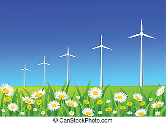 wind turbine - vector wind turbine