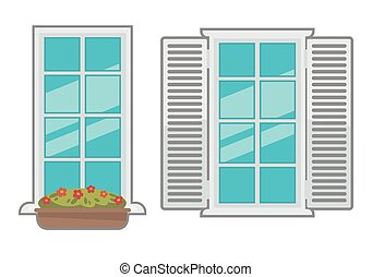 Vector windows collection of various types.