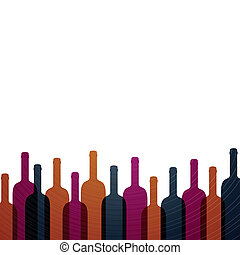 Vector Wine Background - Vector Illustration of an Abstract ...