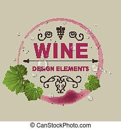 Vector Wine Design Template