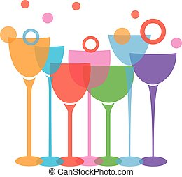 wine glasses - vector wine glasses