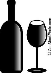 Vector wine symbol
