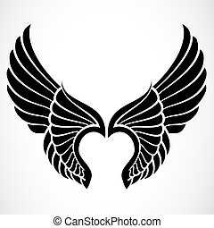 Vector Wings - Set of illustrated wings. Easy to edit and...
