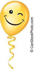 Vector winking emoji Balloon