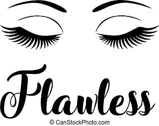 flawless - vector winking eyes flawless
