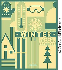 Vector winter background