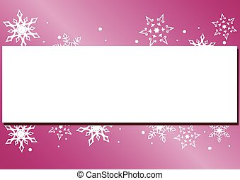 vector winter card with snowflakes