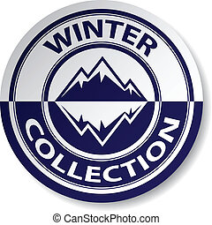 vector winter collection sticker