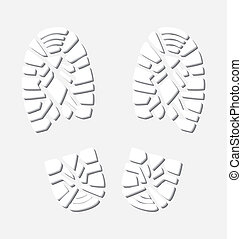 vector  winter foot prints