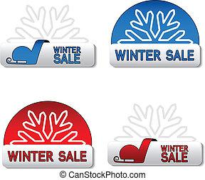 Vector winter sale board