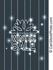 Vector winter sale label - Christmas offer