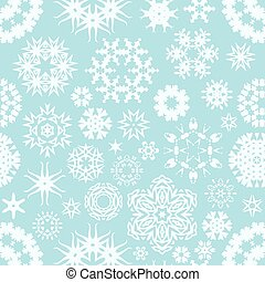 vector winter seamless snowflake background pattern