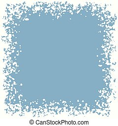 vector winter snow border background