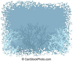 vector winter snow border background