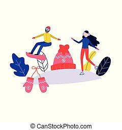 Vector winter sport poster