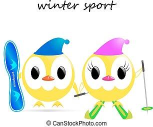 vector winter sport