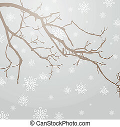 Vector Winterly Branch - Vector Illustration of a Winterly...