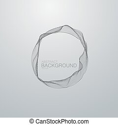 Vector wire frame. Vector technology illustration of...