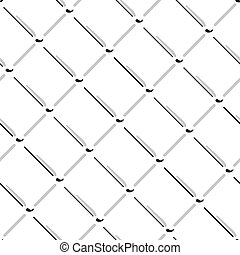Vector wire mesh seamless pattern. Gray wire mesh isolated on white background.