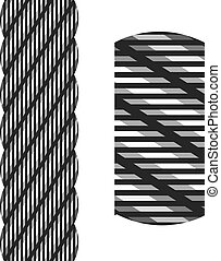 vector wire steel rope seamless
