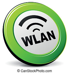 Vector illustration of wlan 3d icon on white background