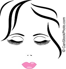 woman face - vector woman face