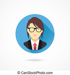 Vector Woman in Business Suit Icon