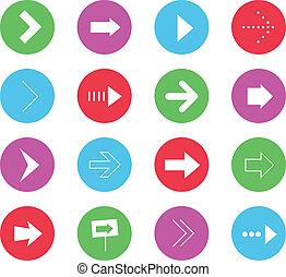 Vector Wonderful Arrows Icons Set 1