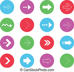 Vector Wonderful Arrows Icons Set 2