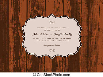 Vector Wood Frame and Background