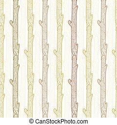 Vector wood logs stripes seamless pattern