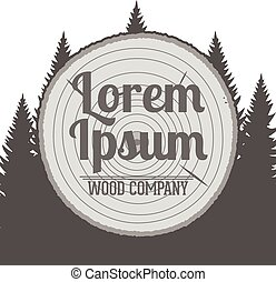Vector wood Service Emblem - Graphic vector Design of wood...