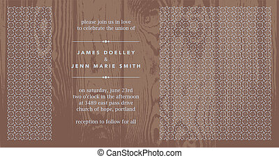 Vector Wooden Background and Ornate Panel Frame