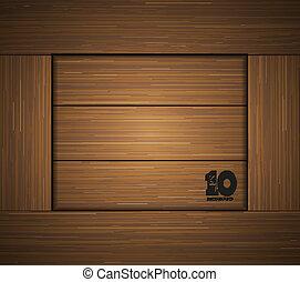 Vector wooden background . Eps10