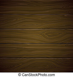 Vector Wooden Background - Vector Illustration of a Wooden...