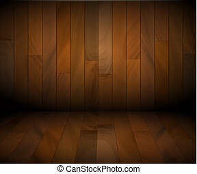 Vector wooden background made from wooden boards