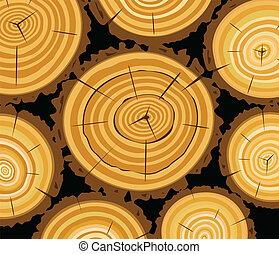 wooden background - vector wooden background