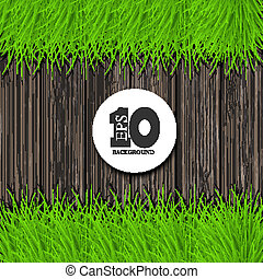 Vector wooden background with place for your text. Eps10