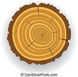 wooden cut  - vector wooden cut clip-art