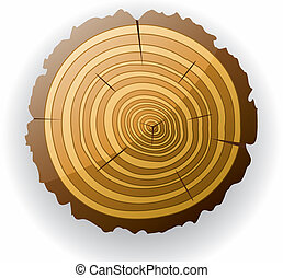 vector wooden cut clip-art