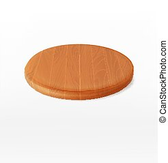 vector wooden cutting board isolated on a white background