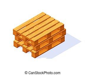 Vector wooden pallet.