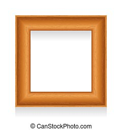 Vector wooden picture frame.