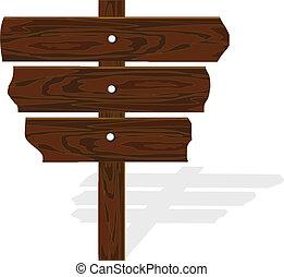 Vector wooden road-sing