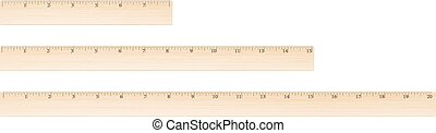 Vector wooden ruler